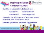 inspiring inclusion conference 2014