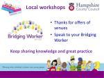 local workshops