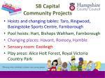 sb capital community projects
