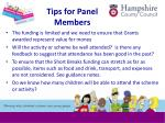 tips for panel members