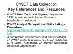 o net data collection key references and resources1