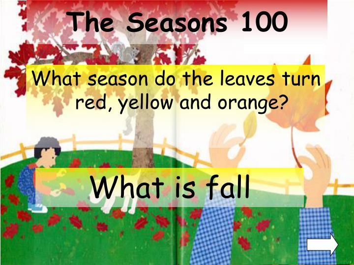 The seasons 100