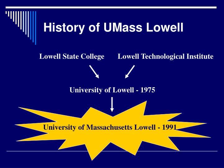 University of Massachusetts Lowell - 1991