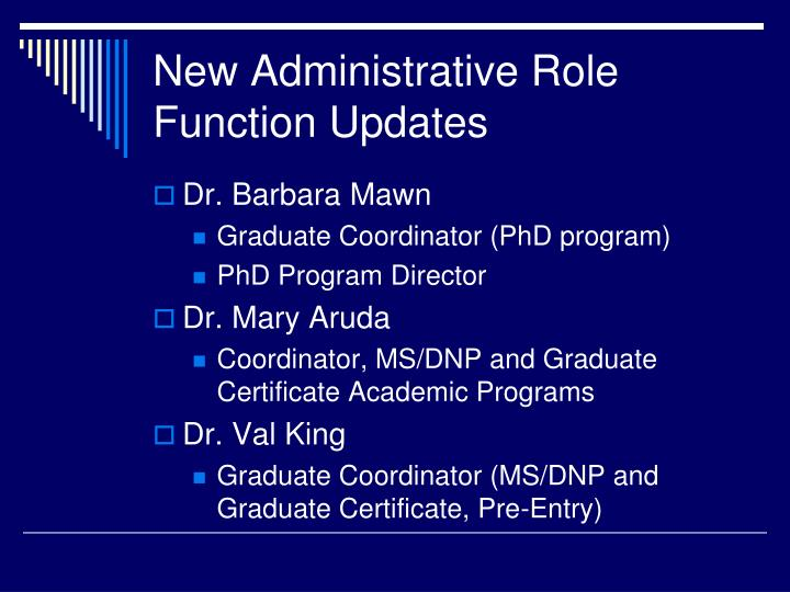 New Administrative Role Function Updates