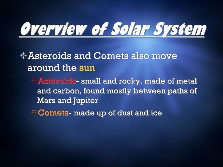 Overview of solar system1