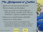 the background of conflict