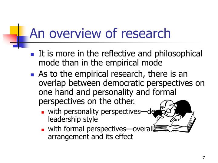 An overview of research