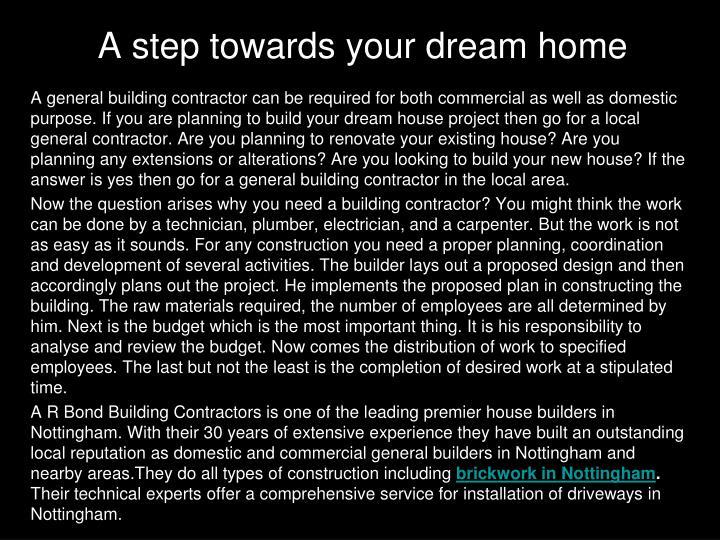 A step towards your dream home