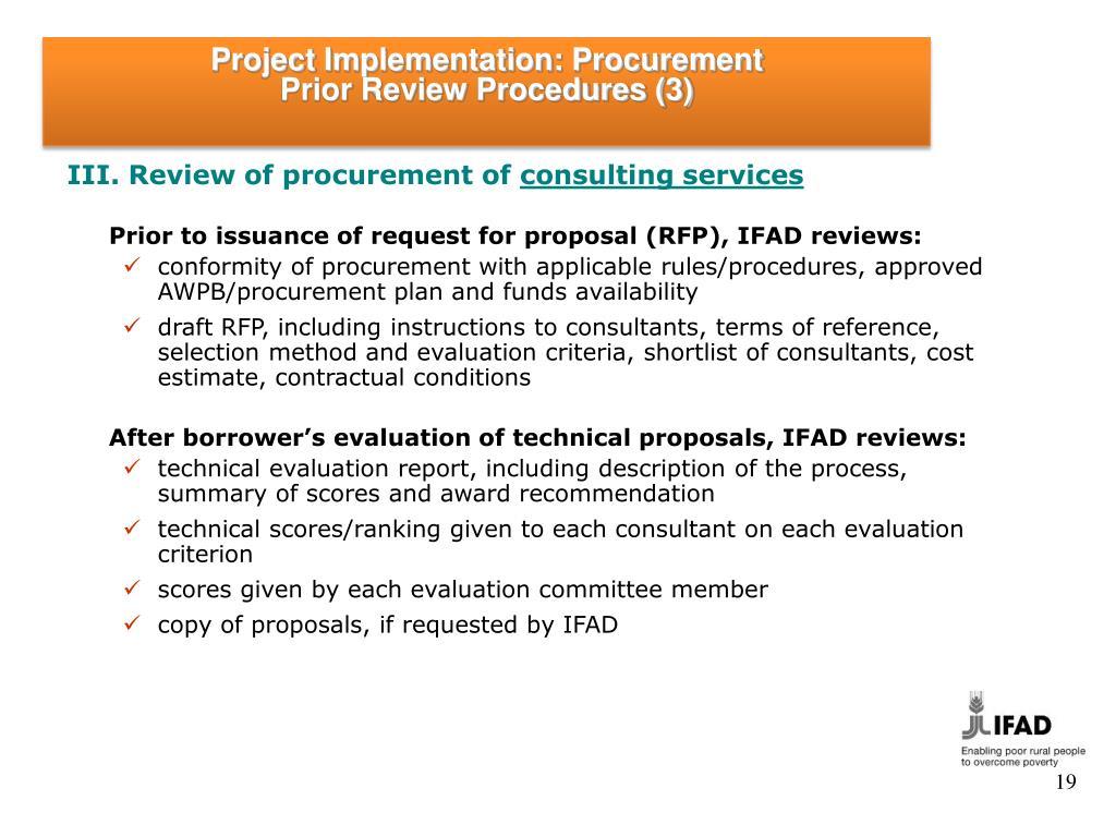 PPT - Project Implementation: Procurement & Contract Management