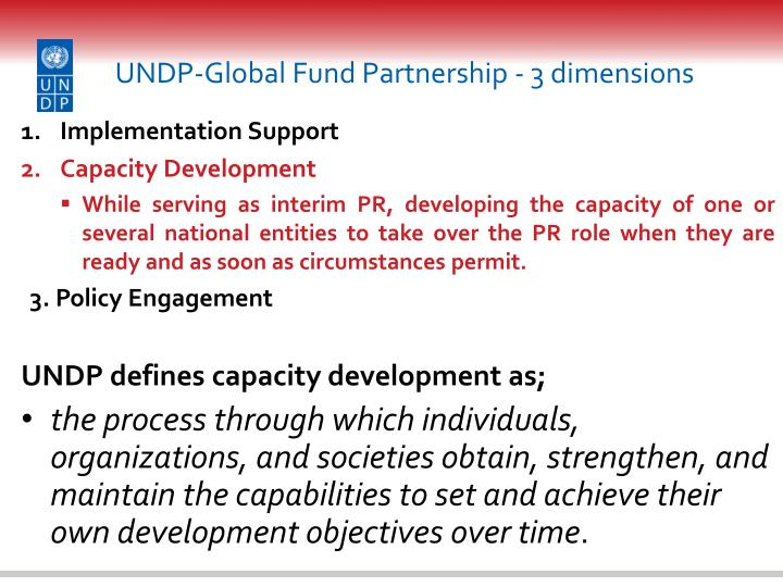 undp global fund partnership 3 dimensions n.
