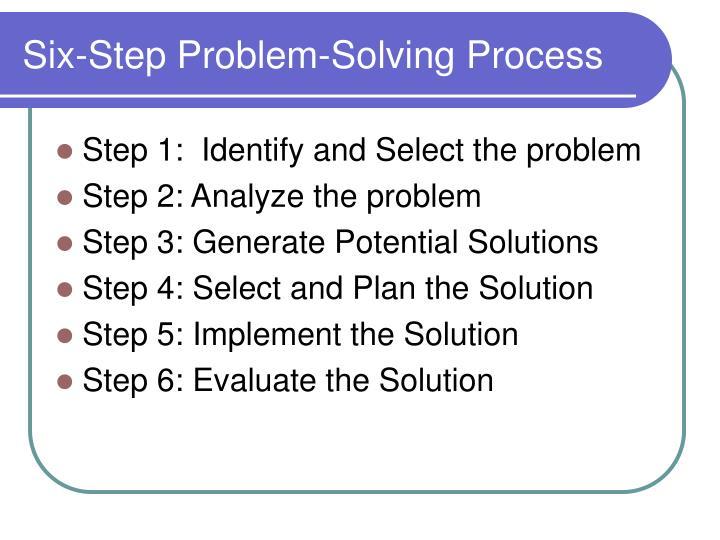 5 step problem solving model