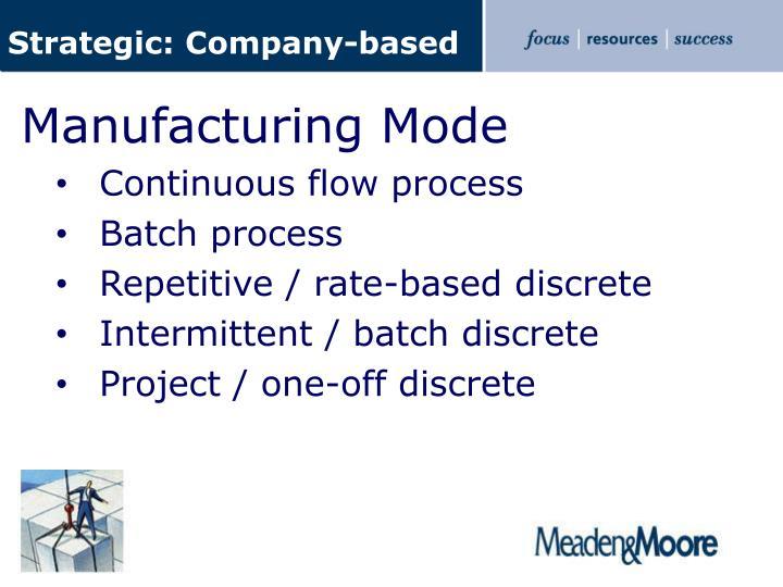 Strategic: Company-based