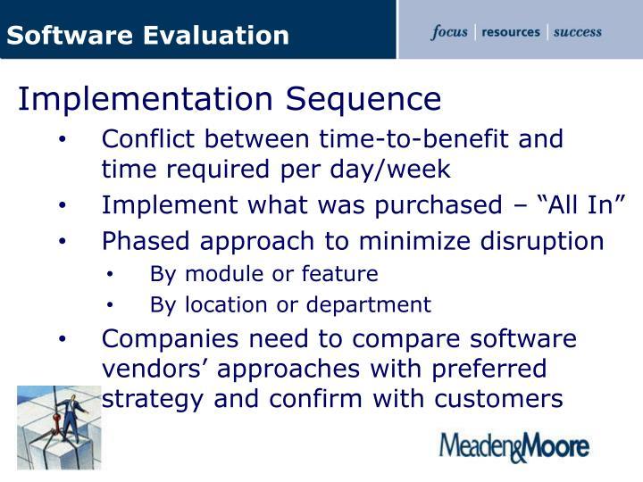 Software Evaluation