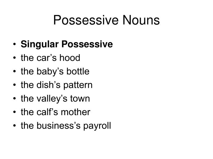 what is the plural possessive of baby