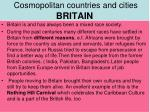 cosmopolitan countries and cities britain