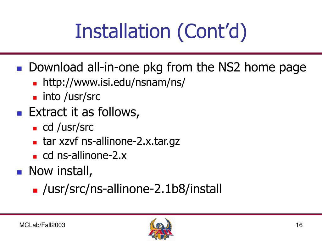 PPT - NS2 - Network Simulator 2 PowerPoint Presentation - ID