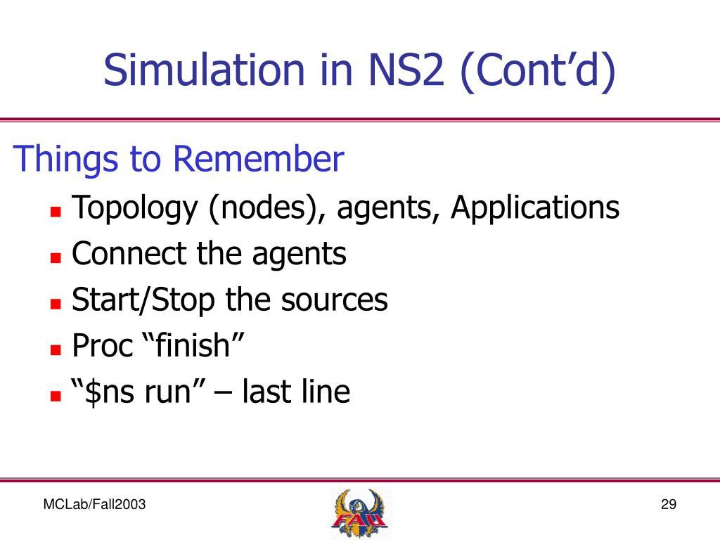 PPT - NS2 - Network Simulator 2 PowerPoint Presentation - ID:6902674