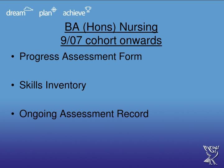 BA (Hons) Nursing