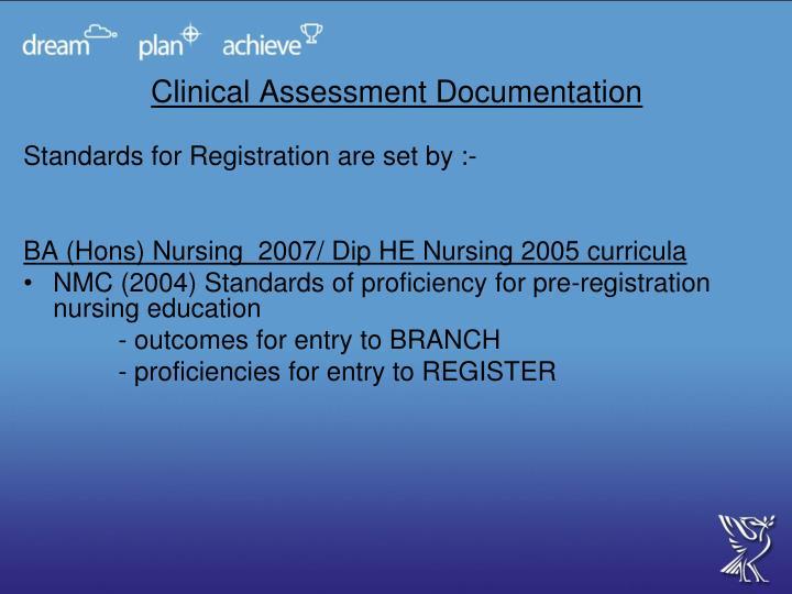 Clinical Assessment Documentation