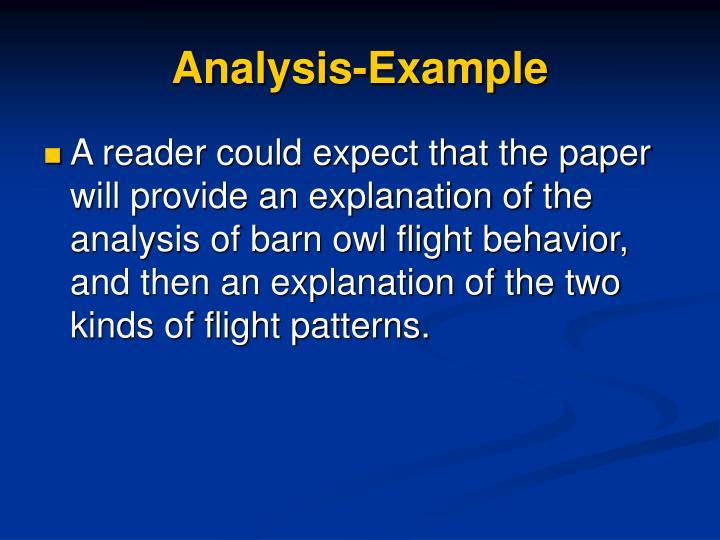 Analysis-Example