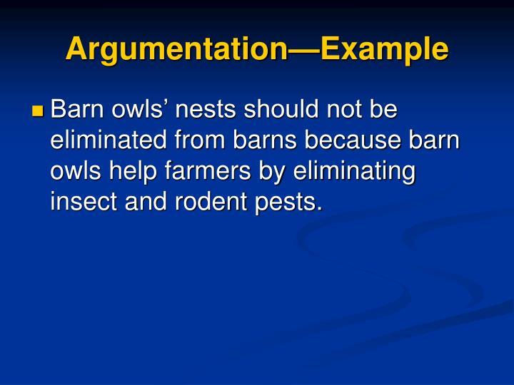 Argumentation—Example
