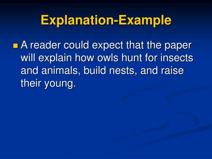 Explanation-Example