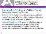 parcc summative assessment with ebsr tecr and pcr items