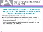 resources for educator leader cadres elc responses3