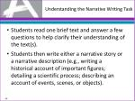 understanding the narrative writing task