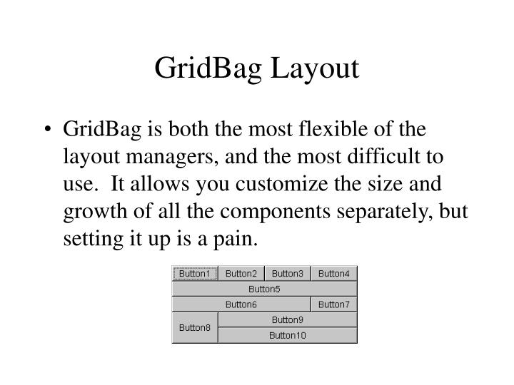 GridBag Layout