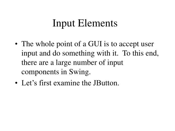 Input Elements