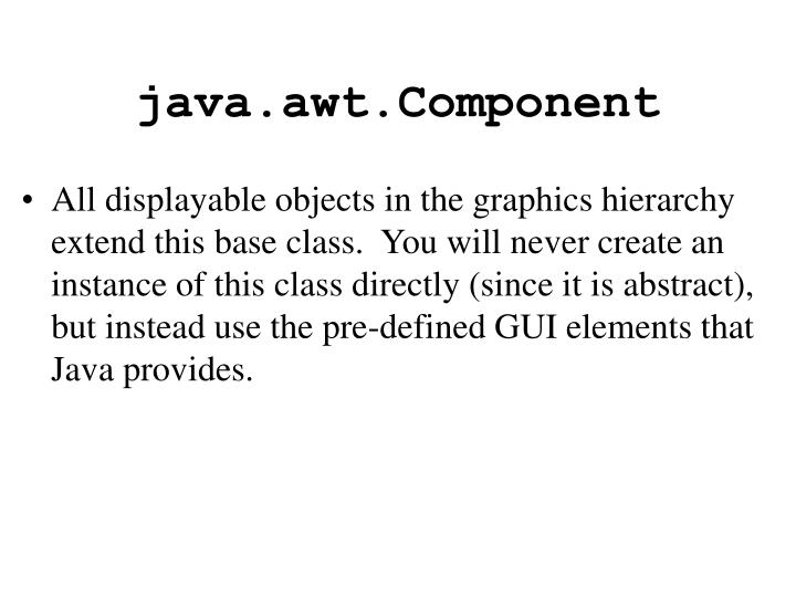 java.awt.Component