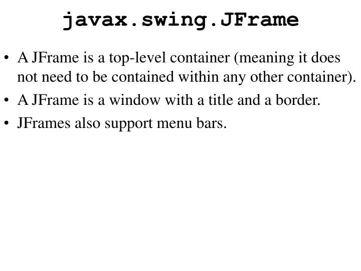 javax.swing.JFrame