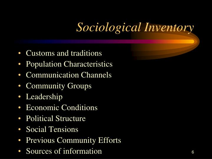 Sociological Inventory