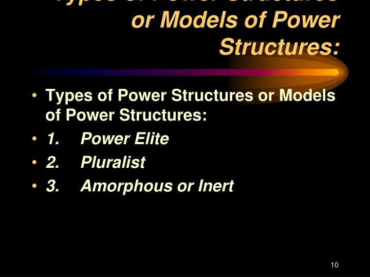 Types of Power Structures or Models of Power Structures: