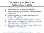 documenting architectures architectural models