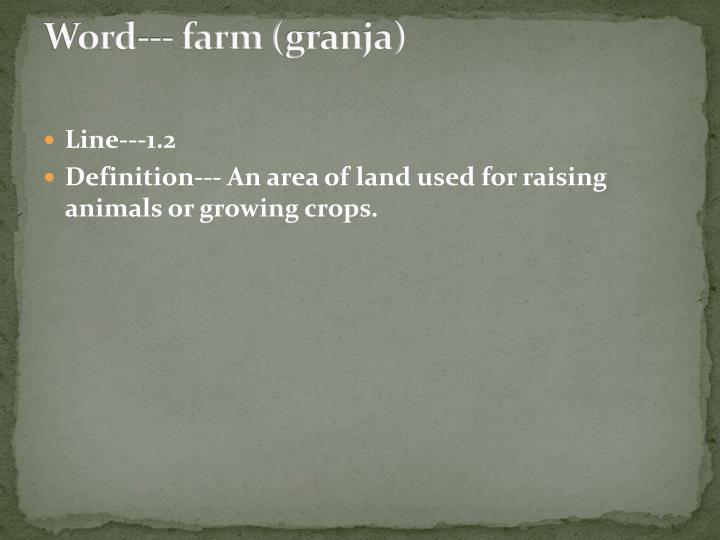 Word--- farm (