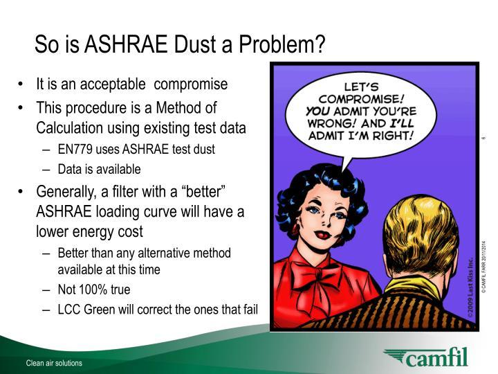 So is ASHRAE Dust a Problem?