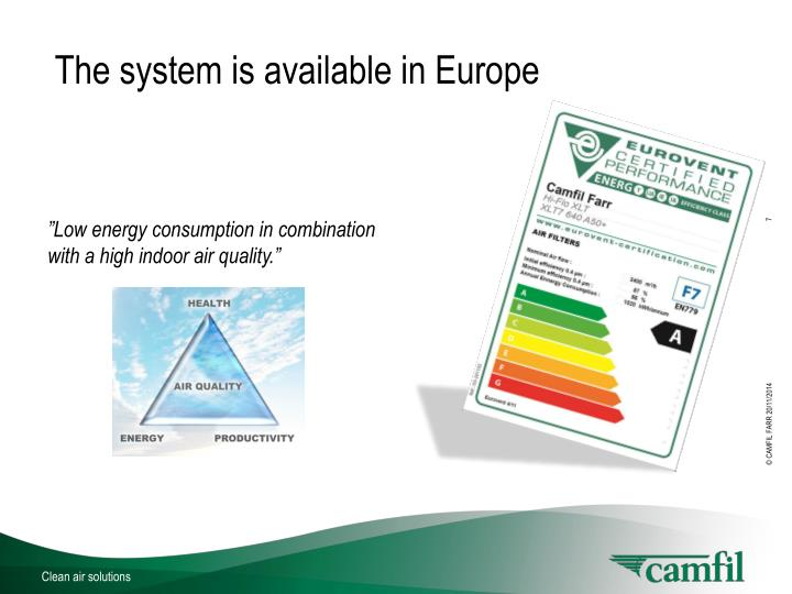The system is available in Europe