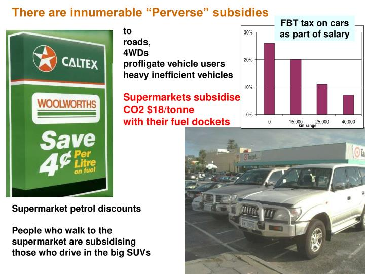 "There are innumerable ""Perverse"" subsidies"