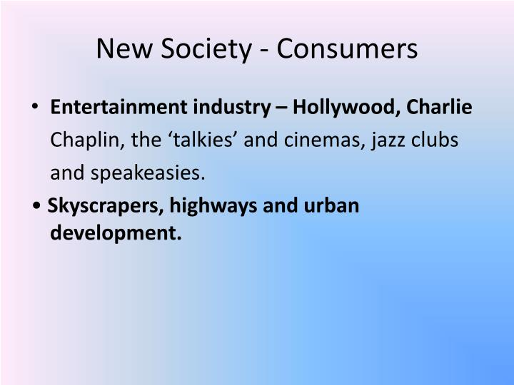 New Society ‐ Consumers