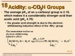 acidity a co 2 h groups