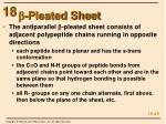 b pleated sheet