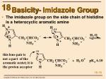 basicity imidazole group