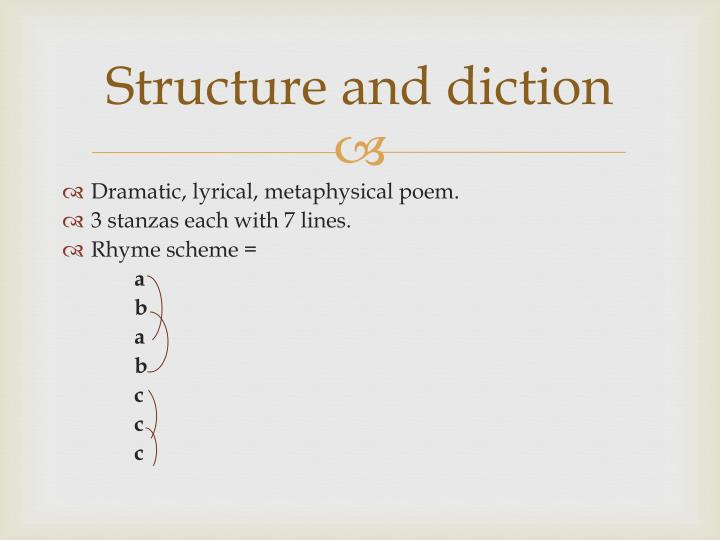 Structure and diction