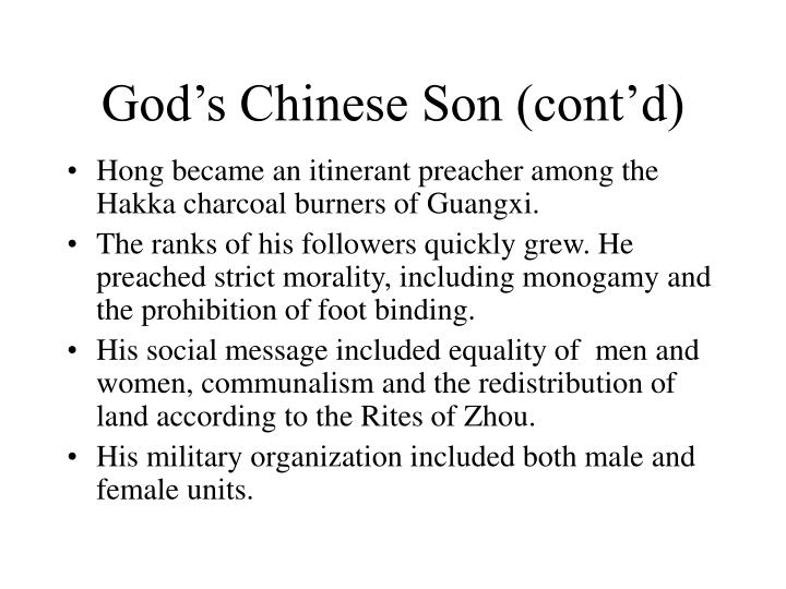 God's Chinese Son (cont'd)