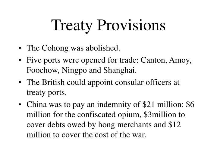 Treaty Provisions