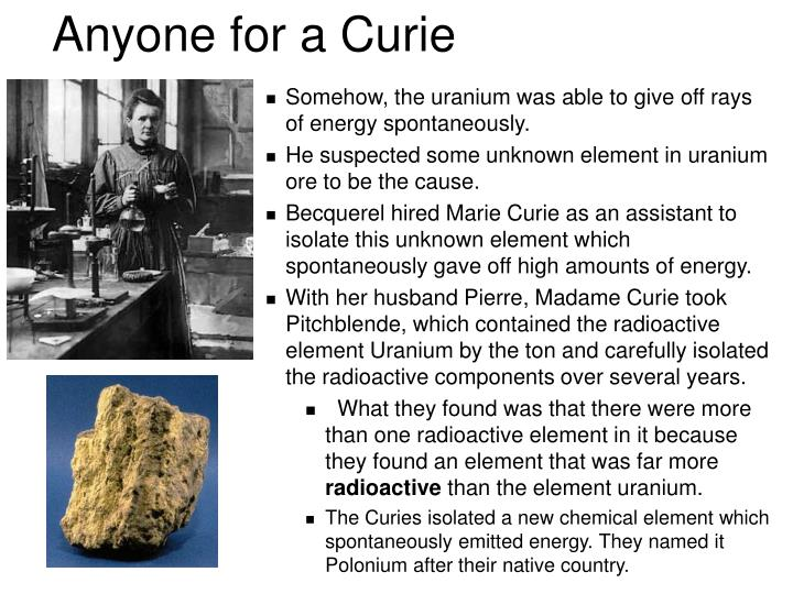Anyone for a Curie