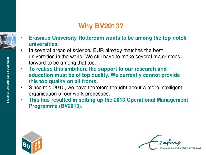 Why BV2013?