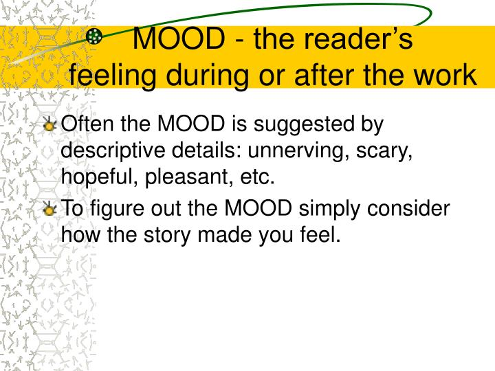 MOOD - the reader's